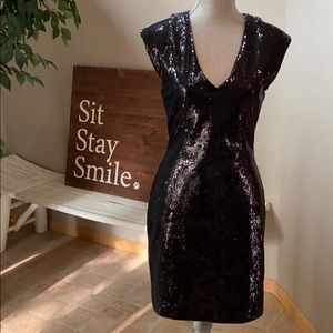 {French Connection} Refectra Sequin Cocktail Dress
